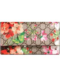 Gucci | Gg Blooms Continental Wallet | Lyst