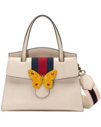 Gucci | Totem Leather Top Handle With Butterfly | Lyst