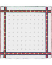 Gucci - Carré de soie pour pochette à motif abeilles avec ruban Web - Lyst