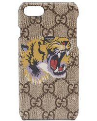 Gucci - Tiger Print Iphone 7 Case - Lyst