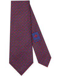 Gucci - Corbata de Seda con Estampado de Lunares y Abejas - Lyst