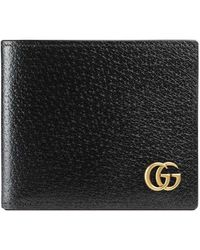 Gucci - Gg Marmont Leather Bi-fold Wallet - Lyst