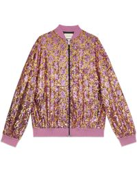 Gucci - Gg Sequins Bomber Jacket - Lyst