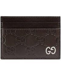 Gucci - Porte-cartes Signature - Lyst