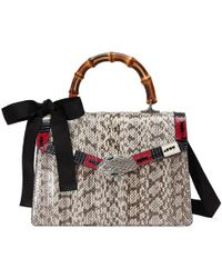 Gucci | Lilith Snakeskin Top Handle Bag | Lyst