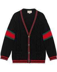 Gucci - Cardigan oversize en maille torsadée - Lyst