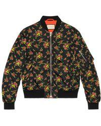 Gucci - Floral Bouquets Nylon Jacket - Lyst