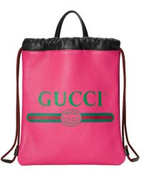 Gucci - Backpack With Logo Print - Lyst