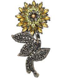 Gucci - Crystal Flower Brooch - Lyst