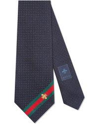 Gucci - Corbata de Seda con Tribanda y Abeja - Lyst