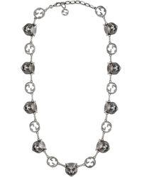 Gucci - Garden Feline Heads Necklace - Lyst