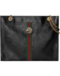 59ebee5c64 Gucci - Borsa shopping Rajah misura grande - Lyst