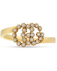 Gucci - Gg Running Ring With Diamonds - Lyst