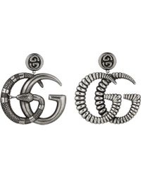Gucci - Metal Earrings With Double G - Lyst