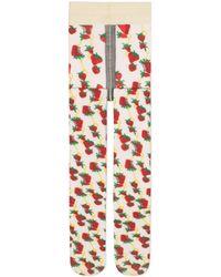 Gucci - Collant con stampa Strawberry e Morsetto - Lyst