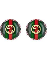Gucci - Vintage Web Earrings - Lyst