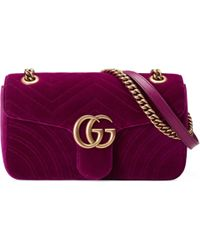 d891475c078f Gucci Gg Marmont Matelassé Denim Mini Bag in Blue - Lyst