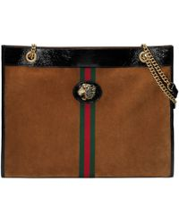 Gucci - Large Tote With Tiger Head - Lyst