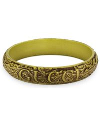 Gucci - Bracelet With Engraved Leaves - Lyst