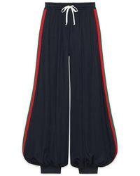 Gucci - Technical Jersey Pants With Web - Lyst