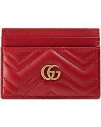 Gucci - Porta carte GG Marmont - Lyst