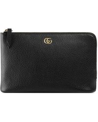 Gucci - Gg Marmont Leather Pouch - Lyst