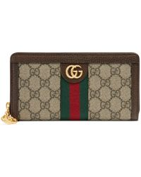 73755e1d89d Gucci Swing Leather Continental Wallet in Orange - Lyst
