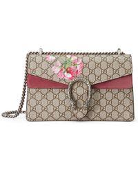 beaf634740e Gucci - Dionysus Small GG Blooms Shoulder Bag - Lyst