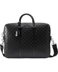 Gucci - Signature Leather Briefcase - Lyst