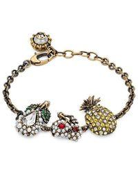 Gucci - Crystal Fruit Bracelet In Metal - Lyst