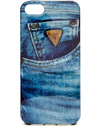 Guess - Denim Iphone 5/5s Hard-shell Case - Lyst