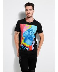 Guess - Collage Graphic Crew Tee - Lyst