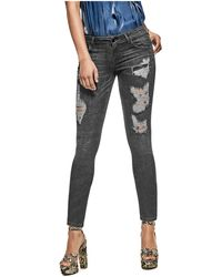 Guess - Marilyn 3-zip Destroyed Skinny Jeans - Lyst