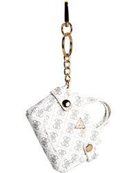Guess - Quattro G Mini Bag Keychain - Lyst