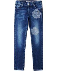 Guess - Rhinestone Rose Super-skinny Jeans (7-16) - Lyst