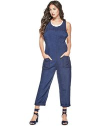758ab939ce95 Lyst - Guess Denim Overalls (7-16) in Blue