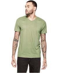 Guess | Limit Striped V-neck Tee | Lyst