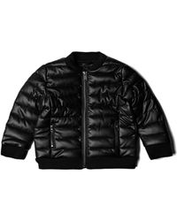 Guess - Faux-leather Puffer Jacket (2-7) - Lyst