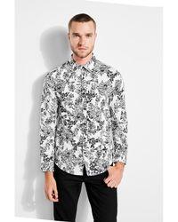 Guess - Woodcut Floral-print Shirt - Lyst