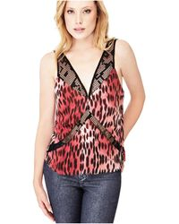 Guess - Glam Animal Printed Top - Lyst