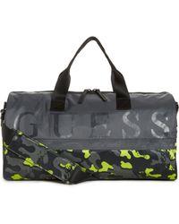 Guess - Graffiti Camo-print Nylon Duffel - Lyst