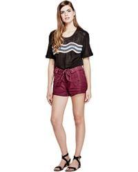 Guess - Gabi Linen Cargo Shorts - Lyst