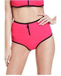 Guess - Zip Scuba High-waist Bikini Bottoms - Lyst
