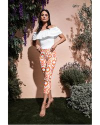 Guess - Picture Perfect Printed Pant - Lyst
