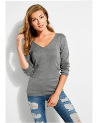 ea22d8c5e87ac Lyst - Guess Sleeveless Turtleneck Sweater in Gray