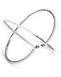 Guess - Rhinestone Cuff Bracelet - Lyst