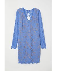 H&M - Fitted Lace Dress - Lyst