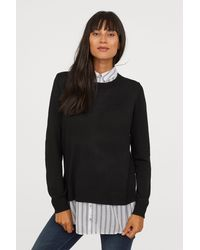 H&M - Mama Jumper With A Collar - Lyst