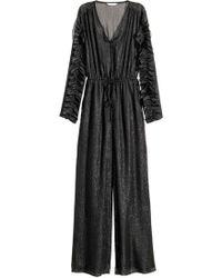 2a04e390dea H M Patterned Jumpsuit in Black - Lyst