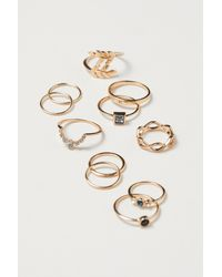 H&M - 11-pack Rings - Lyst